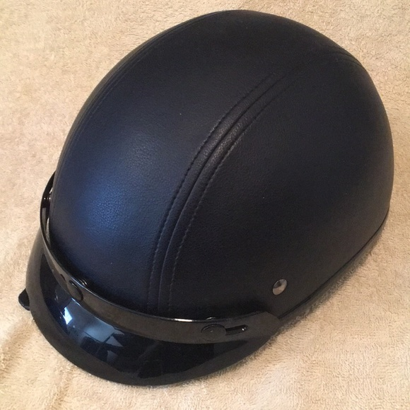 d9403ab1 MHR Other | Half Helmet Dot Black Leather Size Large | Poshmark